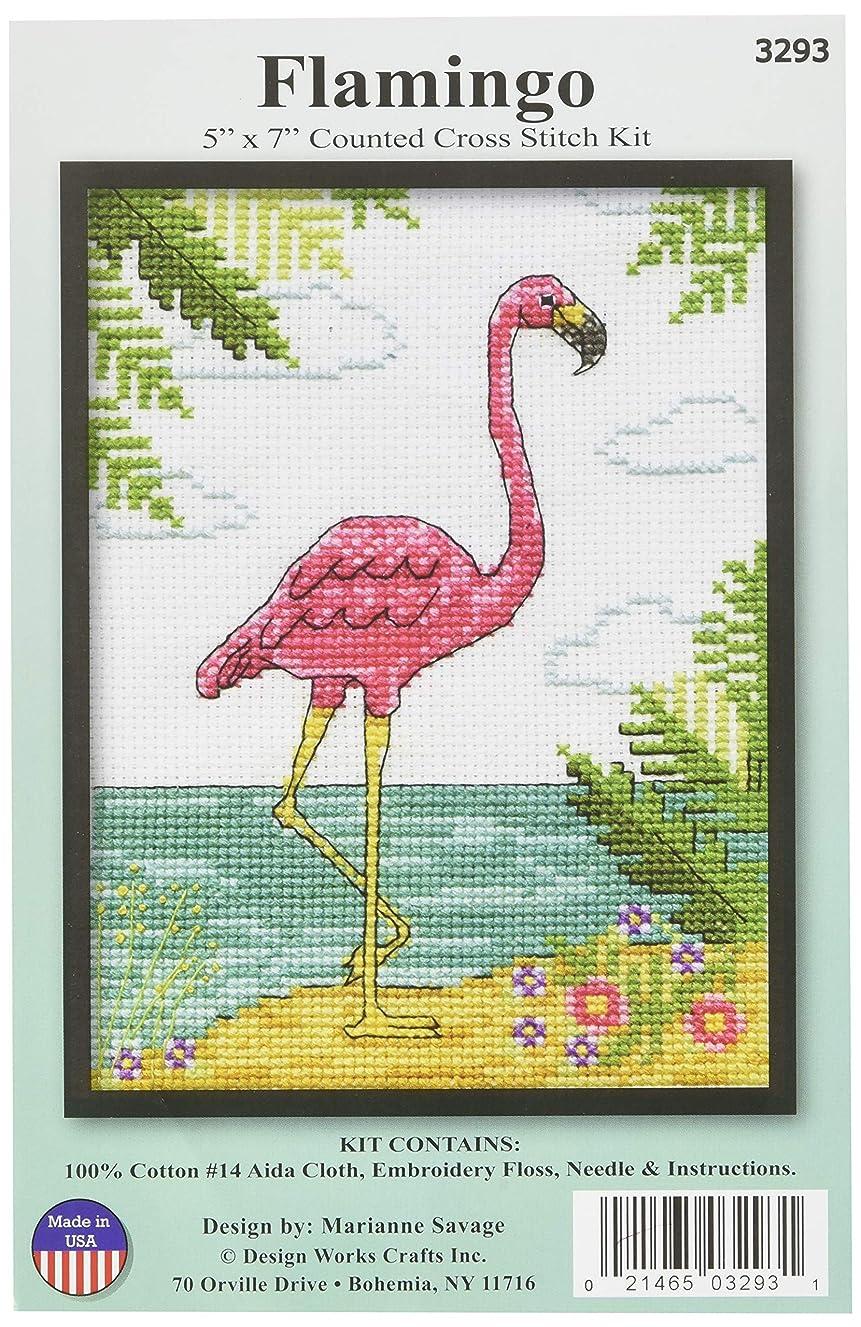 Design Works Crafts 3293 Cross Stitch Flamingo