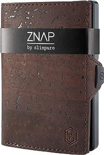 ZNAP Tarjetero Hombre RFID Metálico con Compartimento para Monedas – Cartera Tarjetero Hombre de Aluminio – Billetera Homb...