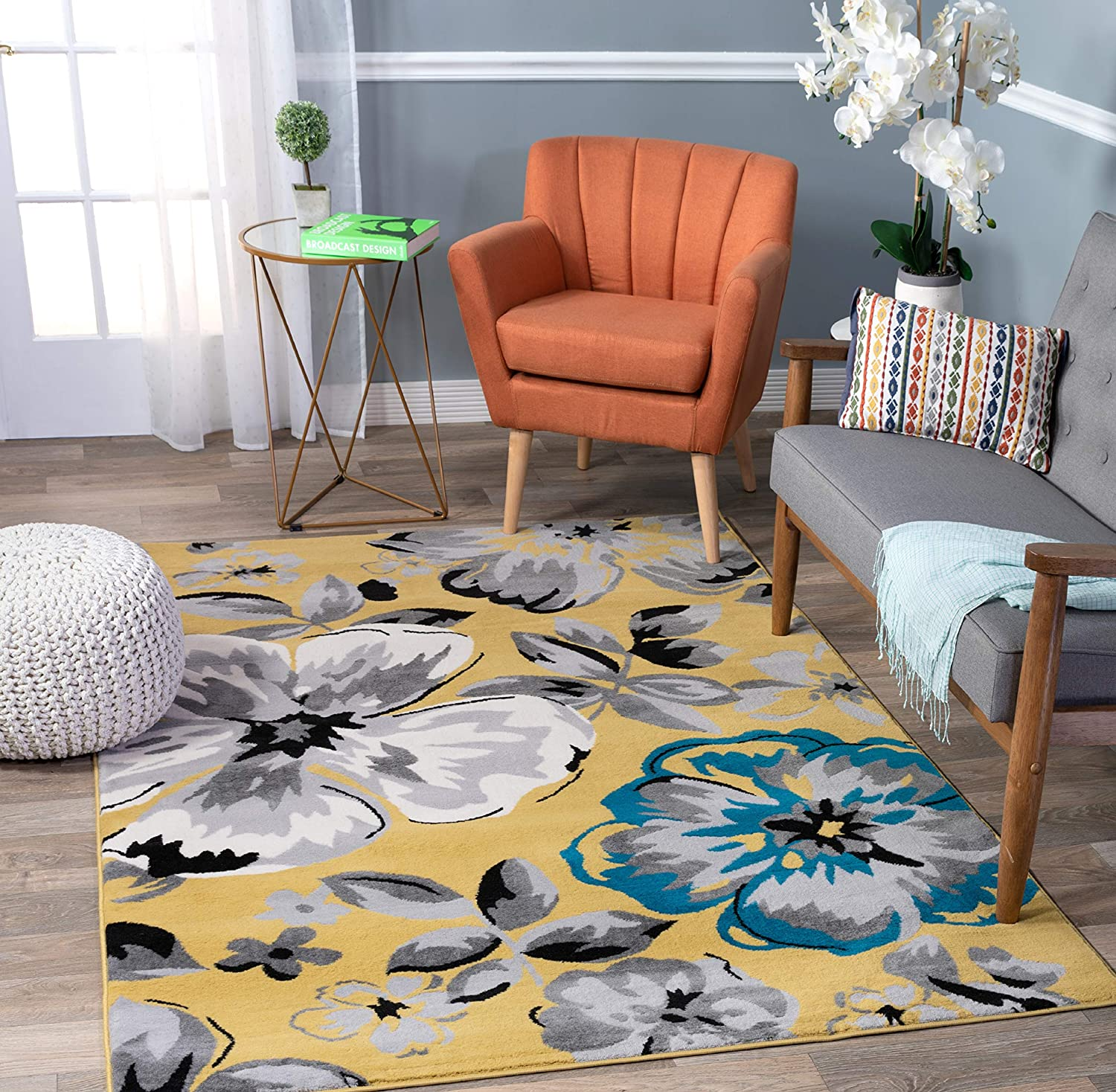 Modern Floral Area Jacksonville Mall Rugs 3'1
