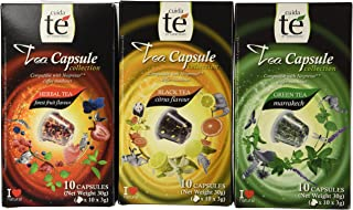 30 Nespresso Compatible Pods - Origen Tea Variety Pack: Black Citrus Tea, Marrakech Green Tea, Forest Fruit Tea (1 box each / 10 pods per box)