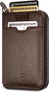 Vaultskin NOTTING HILL - Portafoglio sottile con chiusura a cerniera, con protezione RFID, per carte di credito, contanti,...
