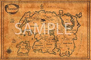 Best Print Store - Elder Scrolls, Vintage Map of Tamriel Poster (13x19 inches)