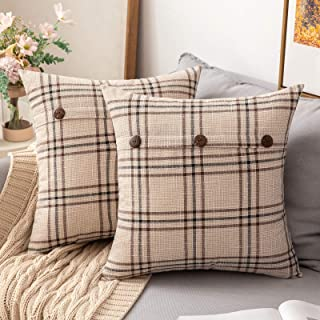 Throw Pillow Covers Plaid Throw Pillow Covers Decorative Pillows Inserts Home Kitchen