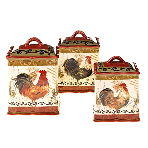 Rooster Canister Sets Amazon Com