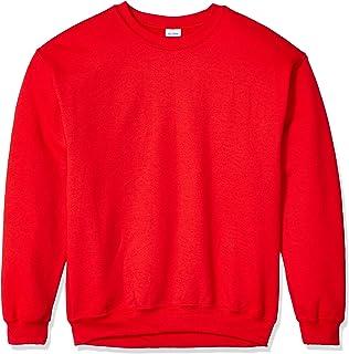 Gildan メンズ フリース クルーネック スウェットシャツ US サイズ: Large カラー: レッド