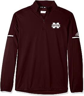 adidas NCAA Men's Sideline L/S 1/4 Zip Pullover Jacket