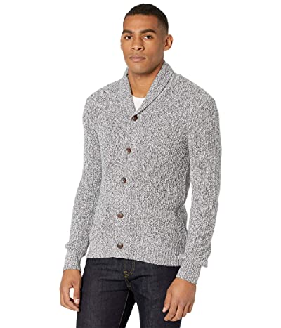 Faherty Marled Cotton Cardigan (Light Gray Rag) Men