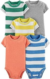 Carter's Baby Boys 5 Pack Bodysuit Set, Stripes, Newborn