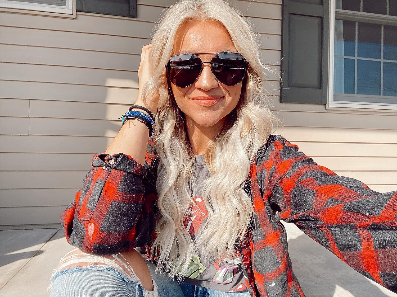 DIFF Eyewear - Dash - Designer Aviator Sunglasses for Men and Women - 100% UVA/UVB [Polarized]