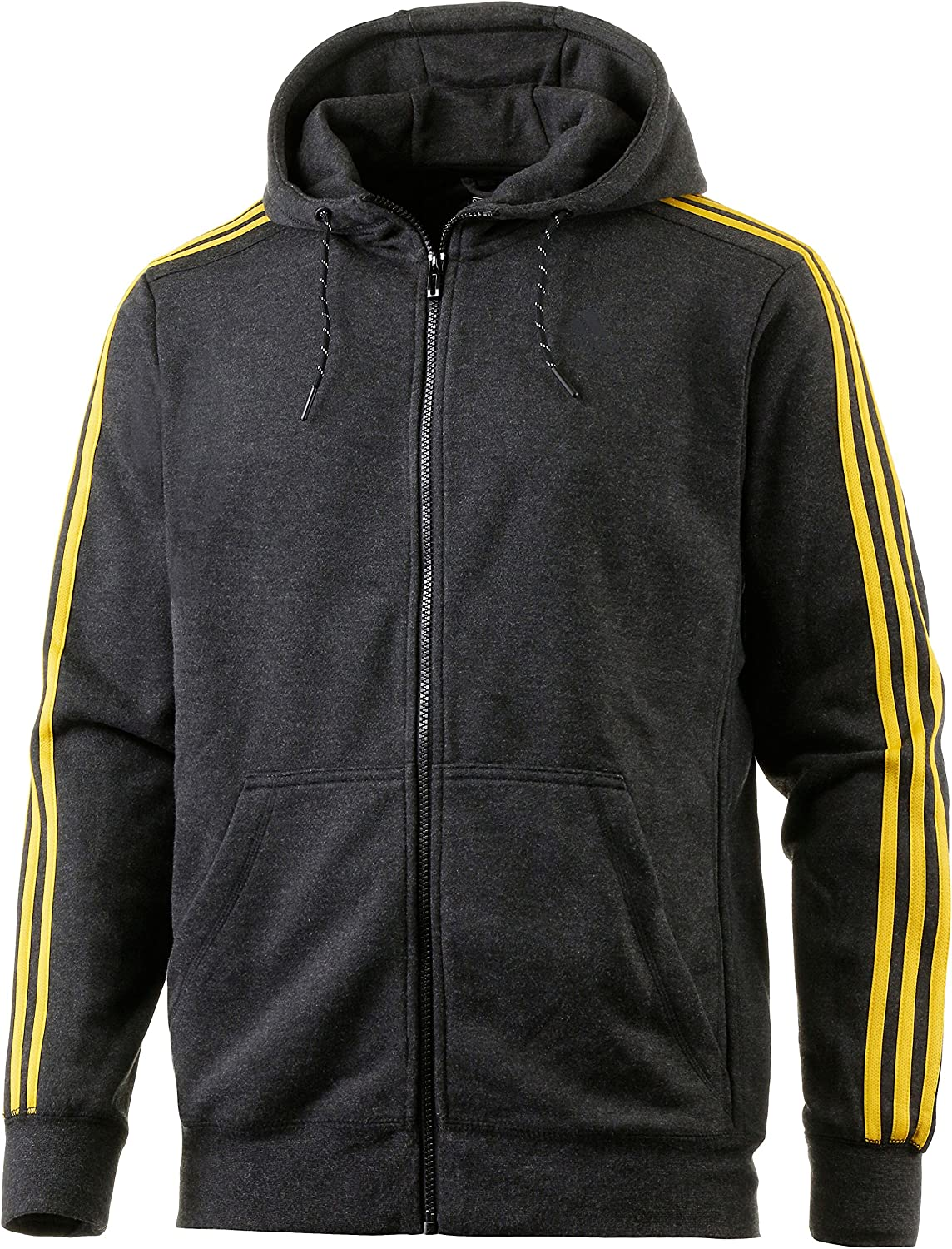 Adidas Herren Sport Essentials 3 Stripes Fleece Kapuzenjacke