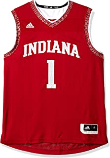 adidas Indiana Hoosiers NCAA Men's Red Iced Out Basketball Replica Jersey