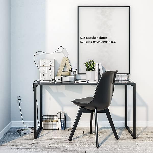 UMBUZ Modern Steel And Glass Desk