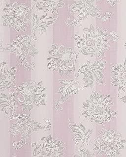 Wallpaper Wall Floral Flowers Baroque EDEM 084-26 Vinyl Wallpaper Wall Purple Lilac White Silver 5.33 sqm (57 sq ft)