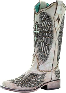 CORRAL A3743 Turquoise Wings and Cross Embroidered Boots