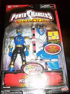 Power Rangers 2003 Ninja Storm Navy Thunder Ninja Flash Ranger Action Figure MOSC MOC NEW Bandai