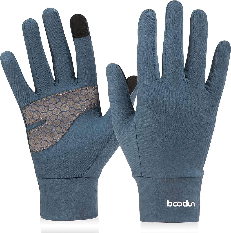 Arcweg Running Gloves Winter Thermal Anti-Slip Touchscreen Gloves Fleece Lining Gloves Men Women for Walking Cycling Driving