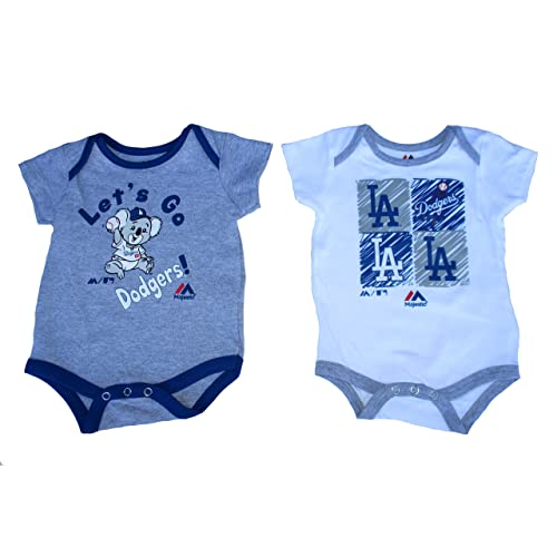 1215aab42a8d 2 Los Angeles Dodgers Infant Onesies Size 6-9 Months Bodysuits Creepers