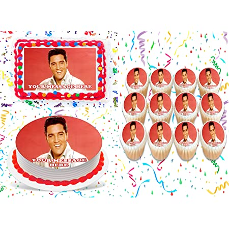 20 Elvis Presley Comestibles Papier de Riz Cup Cake Toppers,