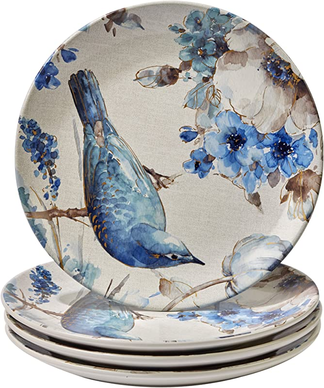 Certified International Indigold Bird Dinner Plates Set Of 4 11 Multicolor