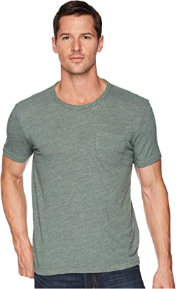 Linen Pocket Crew Neck Tee