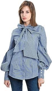 MANILA GRACE Luxury Fashion Womens C241CQMD719 Light Blue Blouse | Fall Winter 19