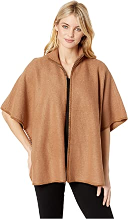 Wool Zip Front Cape