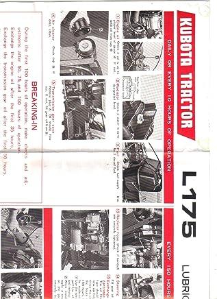 Amazon.com: Kubota L175 Wiring Diagram: Books on kubota z725, kubota hydraulics diagram, kubota l2900 front axle diagram, kubota ssv, kubota farm tractors, kubota ignition diagram, kubota schematics, kubota l2600, kubota cooling system diagram, kubota oil capacities, kubota oil pressure sending unit, kubota emblem, kubota parts, kubota zero turn mowers, kubota f3080, kubota manuals, kubota r630, kubota rtv900 front axle assembly, kubota commercial mowers, kubota serial number location,