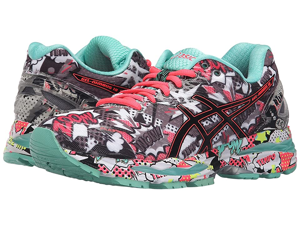 ASICS Gel-Nimbus(r) 18 (Carbon/Black/Cockatoo) Women