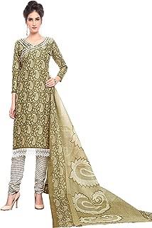 Minu salwar Cotton Printed Suit sets Olive(Pbeauty_6014_0)