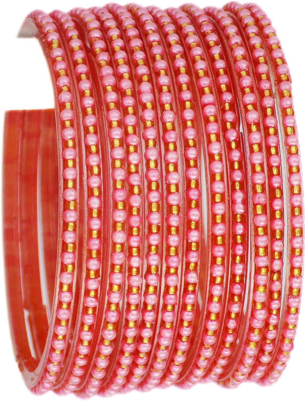 JD'Z COLLECTION Indian Bollywood Traditional Glass Bangles Set Churi Multi Color Bangle Bracelet for Women Jewelry Bangles Piyazi