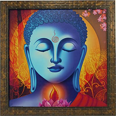 Indianara Buddha Painting (1586) Without Glass 13.8 X 13.8 inch