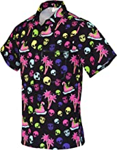 Funny Guy Mugs Men's Hawaiian Print Button Down Short Sleeve Shirts