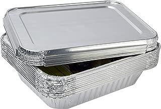 eHomeA2Z Aluminum Foil Pans With Lids Half Size 10 Pack 9