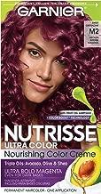 Garnier Hair Color Nutrisse Ultra Color Nourishing Hair Color Creme, Sweet Grenadine M2, 1 Count