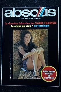ABSOUS 09 N° 9 Claude FRANCOIS Les clubs du sexe La fessologie