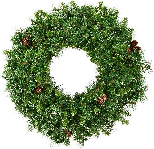 "Vickerman 36"" Cheyenne Pine Artificial Christmas Wreath, Unlit - Faux Christmas Wreath - Seasonal Indoor Home Decor"