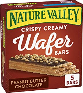 Nature Valley Crispy Creamy Wafer Bars, Peanut Butter Chocolate, 30 Bars