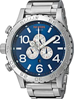 Nixon Men's '51-30 Chrono' Quartz Stainless Steel Watch, Color: Blue sunray (Model: A0831258-00)