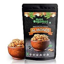 Nutri Organics Dry Fruits Premium Badam California Almonds 1kg Value Pack