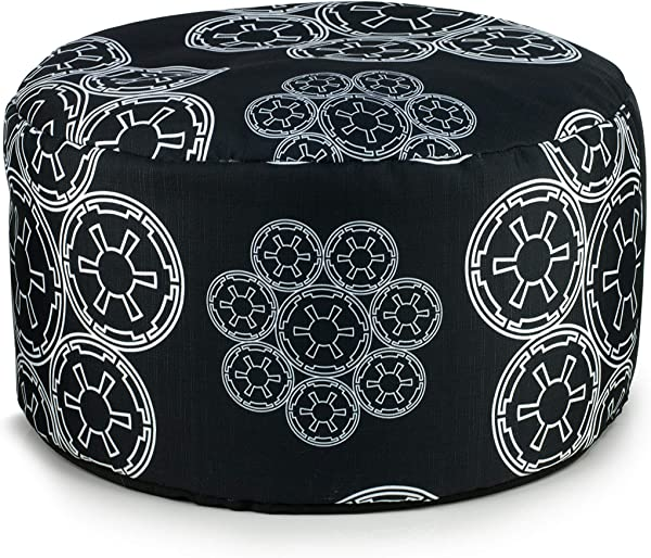 Seven20 SW11167 Star Wars Pillow Pouf Ottoman Burlap Black