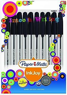 Papermate AP012982 Ink Joy 100 Ballpoint Pen, Black, Pack Of 10