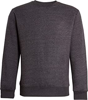 NY Deluxe Edition Men's Plain Sweatshirt Fleece Round Neck Jumper Casual Leisure Top Size S to 5XL