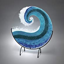contemporary fused glass art