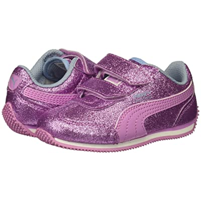 Puma Kids Whirlwind Glitz V (Toddler) (Orchid/Cerulean/Puma White) Girls Shoes