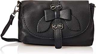 SHADOW Women's PU Leather Crossbody Sling Bag Phone Bag Mini Messenger Shoulder Travel Fashion Handbag Purse, Black
