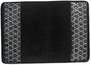 "Popular Bath Bath Rug, Sinatra Collection, 21"" x 12"", Black"