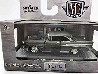 M2 Machines by M2 Collectible Titanium 1957 Chevrolet Bel Air 1:64 Scale TI01 17-12 Grey Details Like NO Other! 1 of 5880