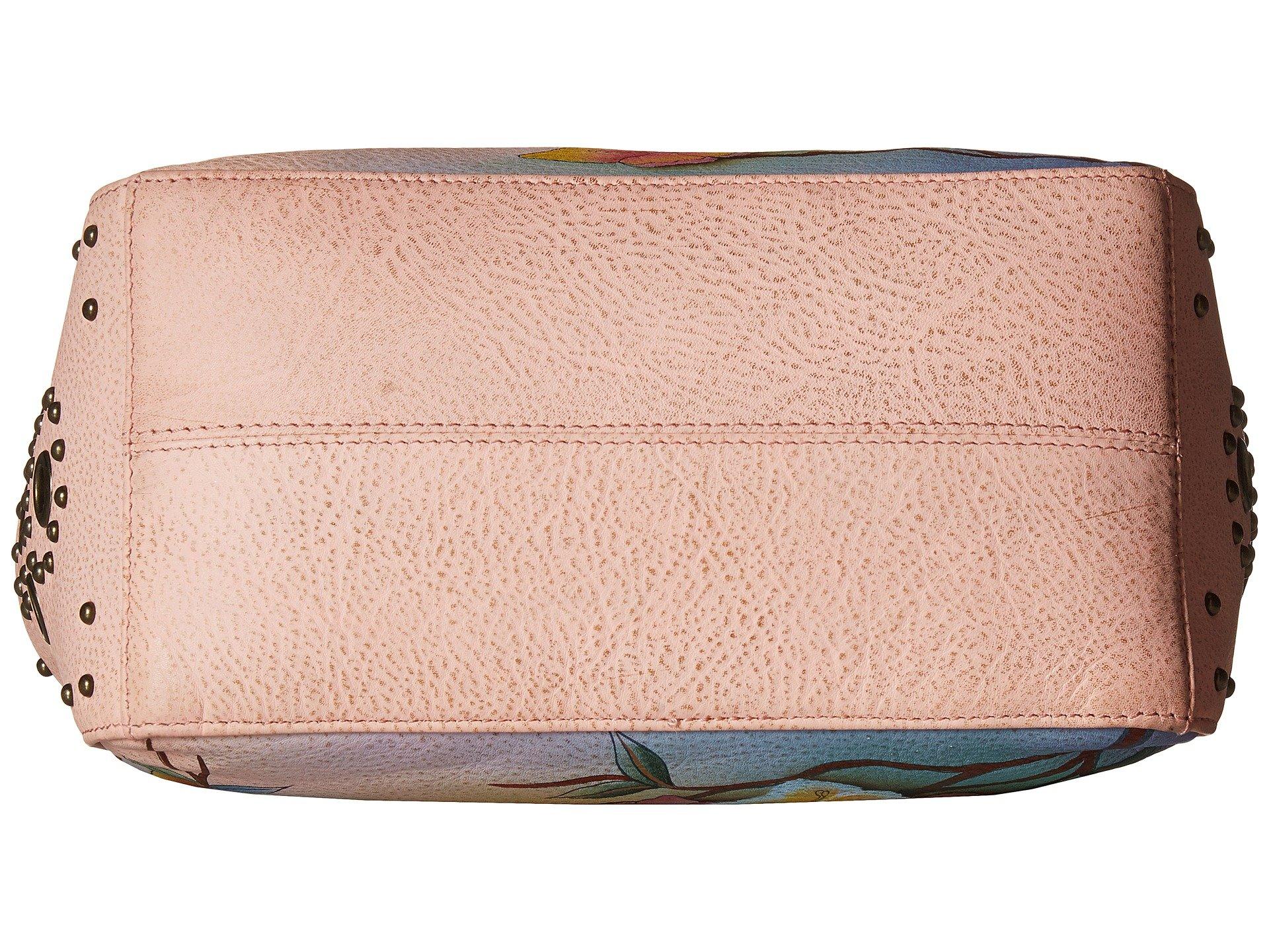 Side Anuschka 433 Handbags Classic Garden With Japanese Studded Hobo Pockets aOYawfq