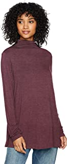 Amazon Brand - Daily Ritual Women's Jersey Mock-Neck Swing Tunic