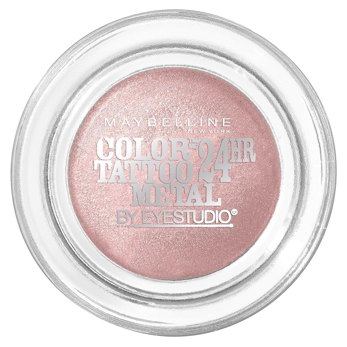 りイサカスティーブンソンMAYBELLINE Eye Studio Color Tatoo Metal 24Hr Cream Gel Eye Shadow - Inked In Pink (並行輸入品)
